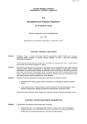 Management and Utilization Regulation on Protection Forest (draft)