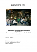 Communication practices of farmers in the Namo District, Laos: Obstacles and Opportunities for Communication of Technical Information.