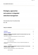 Strategies, Approaches and Systems in Integrated Watershed Management