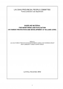 Guideline Material for Monitoring and Evaluation  of Forest Protection and Development at Village Level