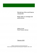 Monitoring of the Rural Finance Component: Basic Data on Coverage and Performance