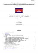 A Review of National Social Policies   Cambodia