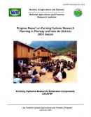 Progress Report on Farming Systems Research Planning in Phonsay and Nam Mo Districts 2003 Season.