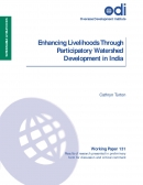 Enhancing Livelihoods Through Participatory Watershed Development in India(ODI Working Paper 131)