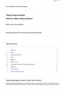 Target Group Analysis: what for, when, what and how?