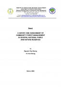 A Survey And Assessment Of Community Forest Management In Several National Parks And Nature Reserves