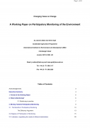 Changing Views on Change   A Working Paper on Participatory Monitoring of the Environment
