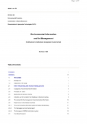 Environmental Information and its Managementcontributions to institutional development in environment