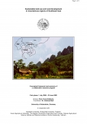 Sustainable Land Use and Rural Development in Mountainous Regions of Southeast AsiaConceptual framework and summary of a collaborative research progra