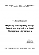 Preparing Participatory Village Forest and Agricultural Land Management Agreements