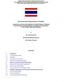 Non Government Organisations in Thailand: A General Overview with Emphasis on North Eastern Thailand, Current status and potential for development coo