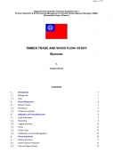 Timber Trade and Wood Flow Study   Myanmar,