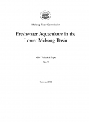Freshwater Aquaculture in the Lower Mekong Basin