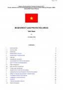 Biodiversity and Protected Areas   Vietnam