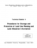 Procedures for Storage and Protection of Land Use Planning and Land Allocation Information