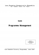 Guide   Programme Management