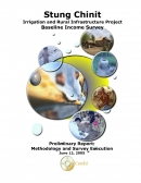 Stung Chinit Irrigation and Rural Infrastructure Project Baseline Income SurveyPreliminary Report:  Methodology and Survey Education