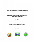 Strategic Plan 2005   2010. National Agriculture and Forestry Research Institute (NAFRI).