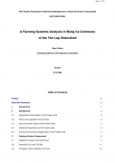 A Farming Systems Analysis in Bang Ca Commune of the Yen Lap Watershed