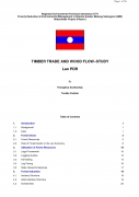 Timber Trade and Wood Flow Study   Lao PDR