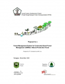 Proposal for a Forest Management System for Community Based Forest Management (CBFM) in Natural Production Forest