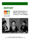 Female Participation in MRDP Saving & Credit Programs: A Study in Five Villages