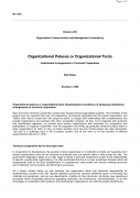 Organizational Palaces or Organizational TentsInstitutional Arrangements in Technical Cooperation,