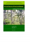 The Local Outcomes of Forest Land Allocation: Evidence from Dak Lak