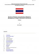 Review of Policies and Institutions Related to Management of Upper Watershed Catchments   Thailand