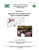 Draft Report on Long Nam Pa Development Area Agroecosystems Analysis.