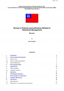 Review of Policies and Institutions Related to Watershed Management   Myanmar