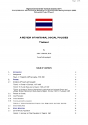A Review of National Social Policies   Thailand