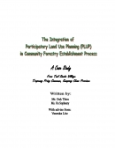 The Integration of Participatory Land Use Planning (PLUP) in Community Forestry Establishment Process
