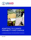 Adapting to Climate Change and variability and change